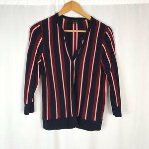 Ann Taylor vertical striped cardigan